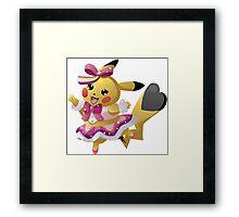 Pikachu Pop Star Framed Print