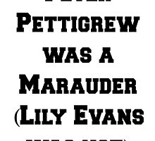 Peter Pettigrew /was/ a Marauder! by redroseses