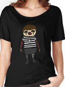 Cool Funky Goth Sloth Art Women's Relaxed Fit T-Shirt