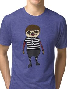 Cool Funky Goth Sloth Art Tri-blend T-Shirt