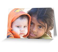 Little babysitter - jovencita canguro  Greeting Card