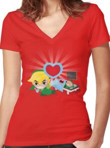 Dr. Link Women's Fitted V-Neck T-Shirt