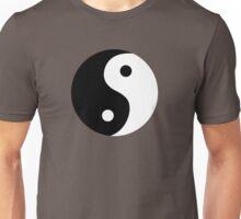 Yin Yang   Chinese Symbol Black and White   Good and Evil  Unisex T-Shirt