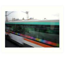 Paris by Bus - buses Art Print