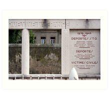 War memorial #2  Art Print