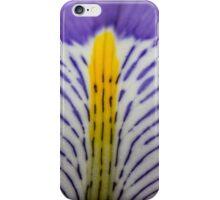 Macro purple and yellow flower iPhone Case/Skin