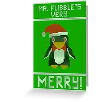 Mr Flibble's Very Merry! Ugly Sweater Greeting Card