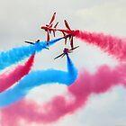 The Red Arrows Gypo Break 2 - Dunsfold 2014 by Colin J Williams Photography