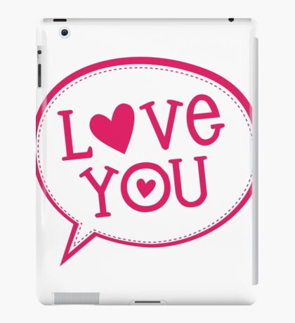 "LOVE BUBBLE modern typography heart ""love you"" iPad Case/Skin"
