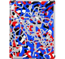Red White & Blue Abstract Pattern iPad Case/Skin