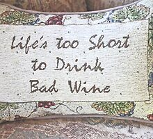 PILLOW ART - BAD WINE- SERIES 1 by JAYMILO