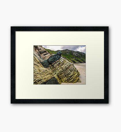 Rocks of Maghera Beach - Ireland #3 Framed Print