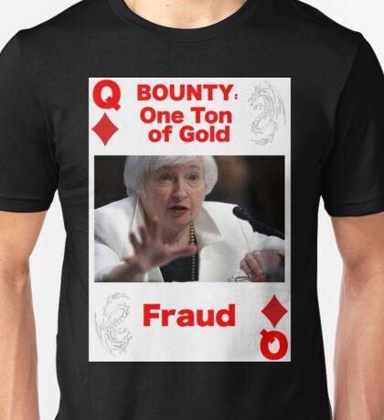 Wanted QUEEN of DIAMONDS Unisex T-Shirt