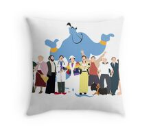 NO BACKGROUND Even More Minimalist Robin Williams Character Tribute Throw Pillow