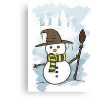 Hufflepuff Christmas Card Canvas Print