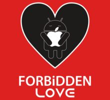 Forbidden Love // Apple & Android Sitting in a Tree Kids Tee