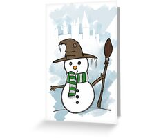 Slytherin Christmas Card  Greeting Card