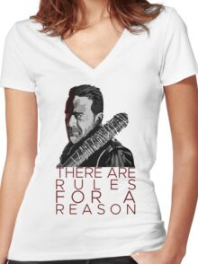 Rules for a Reason Women's Fitted V-Neck T-Shirt