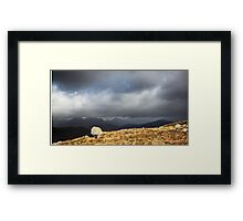 Stone and Storm in colour Framed Print