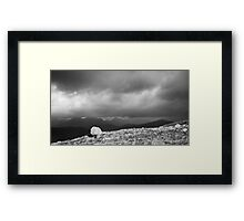 Stone and Storm Framed Print