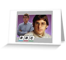Louis Theroux BBC Greeting Card