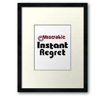 Instant Regret - Maruchan Parody Framed Print