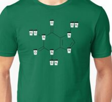 Coffee Cups Caffeine Molecule - Green Unisex T-Shirt