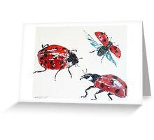 Ladybird beetles by Liz H Lovell Greeting Card