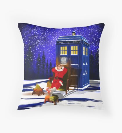 The Doctor Relax before Christmas Throw Pillow