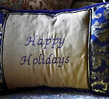 PILLOW ART-HAPPY HOLIDAYS-SERIES 5 by JAYMILO