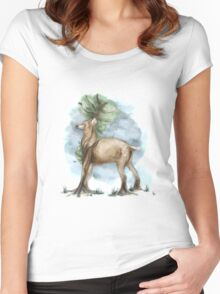 Painted Serenity Women's Fitted Scoop T-Shirt