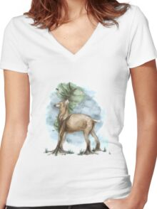 Painted Serenity Women's Fitted V-Neck T-Shirt