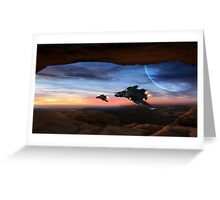 Sabers & Sunset Greeting Card