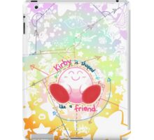 Kirby is shaped like a friend iPad Case/Skin