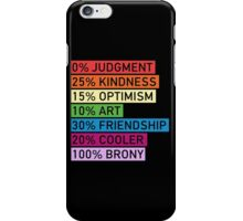 100% BRONY iPhone Case/Skin