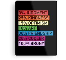 100% BRONY - MLP Metal Print