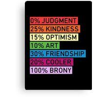 100% BRONY - MLP Canvas Print