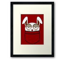 Pocket rabbit Framed Print
