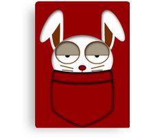 Pocket rabbit Canvas Print