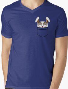 Pocket rabbit Mens V-Neck T-Shirt