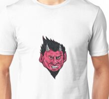 Demon Horns Goatee Head Drawing Unisex T-Shirt