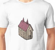 Medieval Church Drawing Unisex T-Shirt