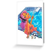Smoking Mermaid Greeting Card