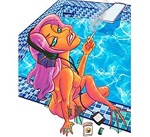 Smoking Mermaid Photographic Print