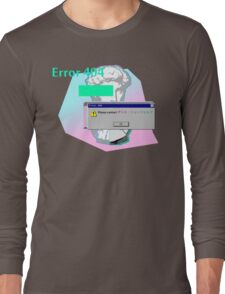 Vaporwave Error 404 Contact Long Sleeve T-Shirt