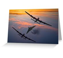 Vulcan and Lancaster Bombers Greeting Card