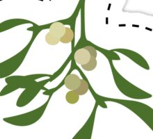 Cutout mistletoe - try not to stare! Sticker