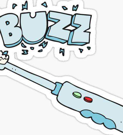 cartoon buzzing electric toothbrush Sticker