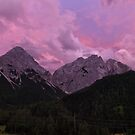 Sonnenspitze and Marienbergjoch after Sunset by Yair Karelic