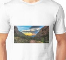 The path and the sunbeams Unisex T-Shirt